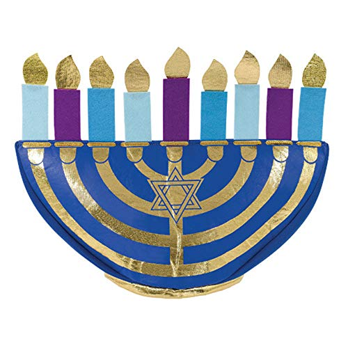 Religious 'Hanukkah' Menorah Plush Hat (1ct) ()
