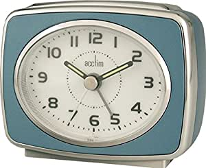 Acctim 13879 Retro 2 Reloj con alarma, color azul