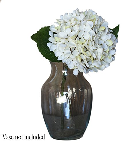 Red Co. Cream White Faux Silk Blooming Hydrangea Pick Bouquet, 13 Inches