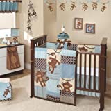 Lambs and Ivy Giggles 5 Piece Crib Bedding Set, Baby & Kids Zone