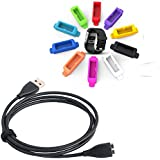 CAVN (With 10 Packs Sweat Resistant and Anti-dust Plugs) Replacement Charging Cable for Fitbit Surge Wristband