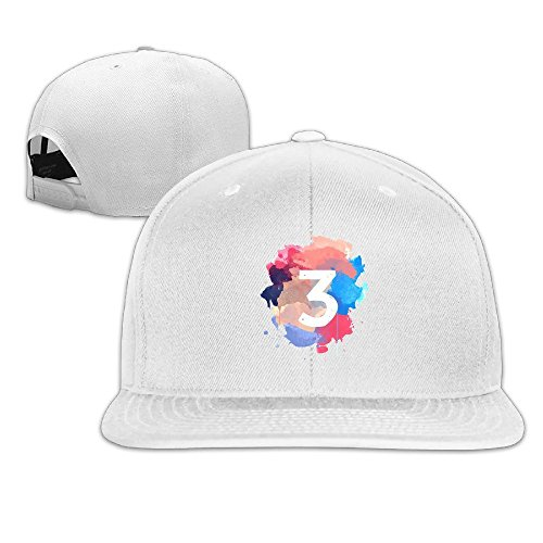 Price comparison product image Male/Female Chance The Rapper Number 3 Coloring Book Cotton Flat Snapback Baseball Caps Adjustable Mesh Hat Mesh Hats White One Size Fits Most