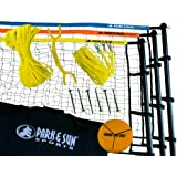Park & Sun Sports Tri-Ball Volleyball: Portable Outdoor 3-Way Net System, Recreational Series