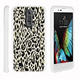 LG K7 Case | LG Tribute 5 Case | LG Treasure Case [Slim Duo] Ultra Slim Matte Hard 2 Piece Cover Protector Exclusive Cool Design on White by TurtleArmor - Fainted Leopard Print