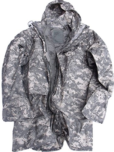 New ORC US Army Improved ACU Rainsuit Wet Weather Rain Jacket Parka Coat +Liner 2XS XXS (Acu Parka)