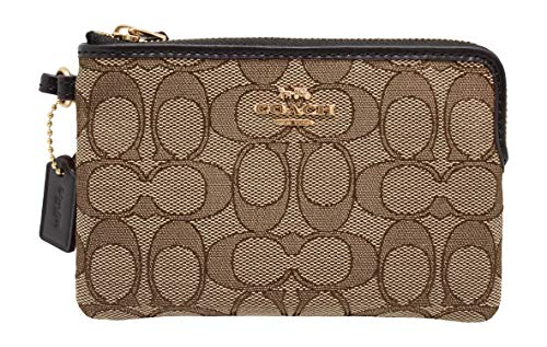 Coach Outline Signature Wristlet Khaki/Brown