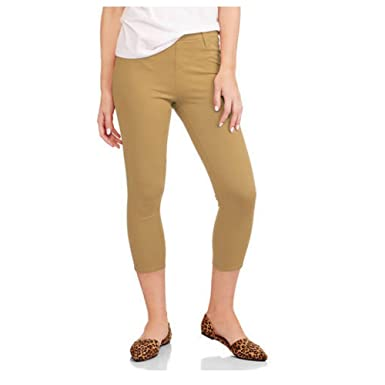 1b8dccbfa03 Faded Glory Women s Capri Length Stretch Knit Jegging Pants (X-Large ...