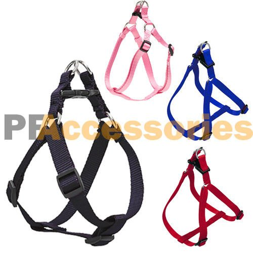Small Dog/Cat/Pet Control Harness Step in Walk Collar Safety Strap Vest Med (Red, M) -