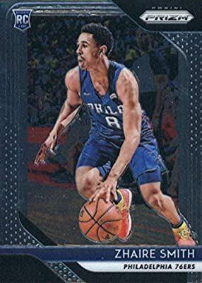 cda6d747b752 2018-19 Panini Prizm Basketball  189 Zhaire Smith Philadelphia 76ers RC  Rookie Official NBA Trading Card