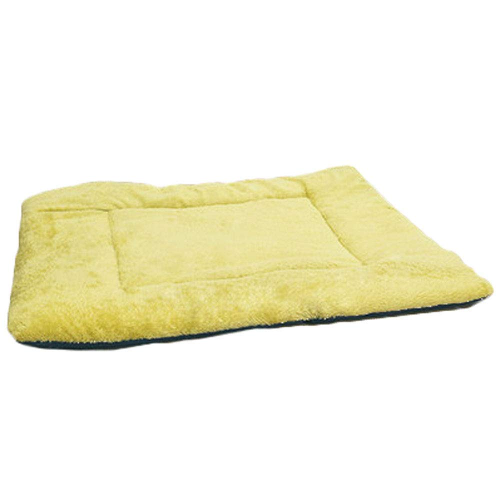 Yellow KYCD Pet Nest Pad Dog Mat Teddy golden Retriever Large Dog Dog Mat Plus Velvet Spring Summer Models
