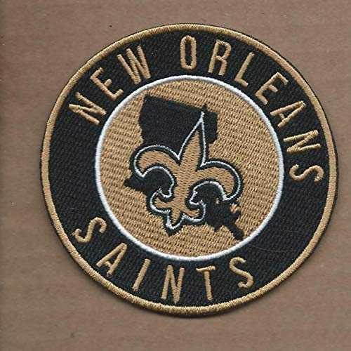 New 3 1/2 INCH New Orleans Saints Iron ON Patch D2 -