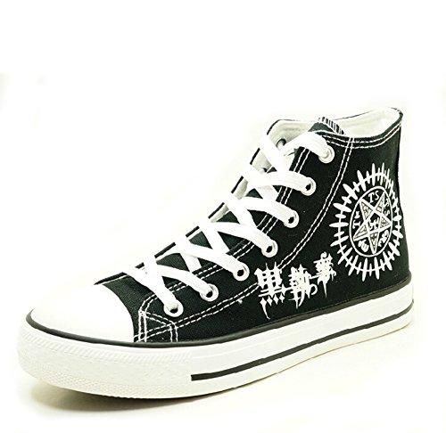 Black Butler Kuroshitsuji Anime Logo Cosplay Schuhe Leinwand Schuhe Turnschuhe Leuchtend