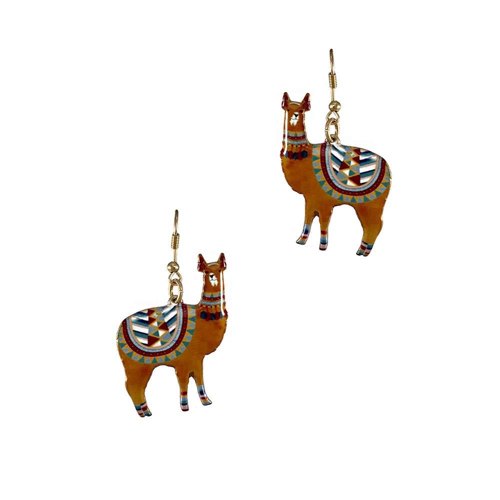 Brown Llama Summer Fashion Dangle Earring