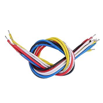 Dilwe 10 Pcs Cable de Guitarra Eléctrica, 9 cm /19 cm Cable de Guitarra