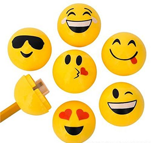 Rhode Island Novelty Emoji Sharpeners (24 Per Order), Brown