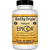 Healthy Origins EpiCor (Clinically Proven Immune Support) 500 mg, 60 Veggie Capsules