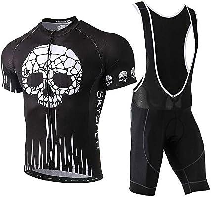 SKYSPER Ciclismo Maillot Hombres Jersey + Pantalones Cortos Culote ...