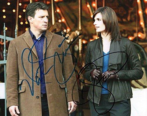 Photo Castle - Stana Katic & Nathan Fillion Signed Autographed 8 x - Autographed Castle