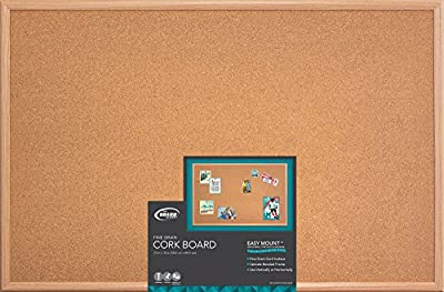 "Board Dudes 23"" x 35"" Wood Style Frame Cork Board (CXM86) by Mattel"