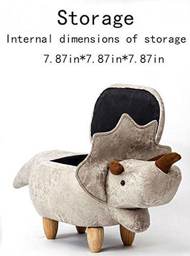Storage Ottoman Dinosaur/Animal Modeling Decorative Furniture Storage Shoes  Changing(Storage White)