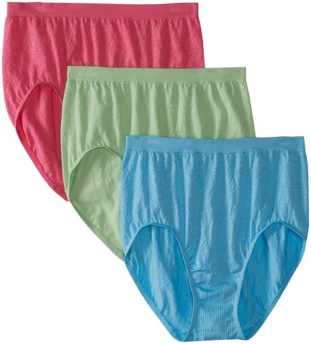 Bali Women's 3-Pack Solid Microfiber Full Brief Panty