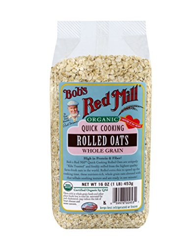 Bob's Red Mill Organic Oats Rolled Quick, 16 Ounce (Pack of 4)