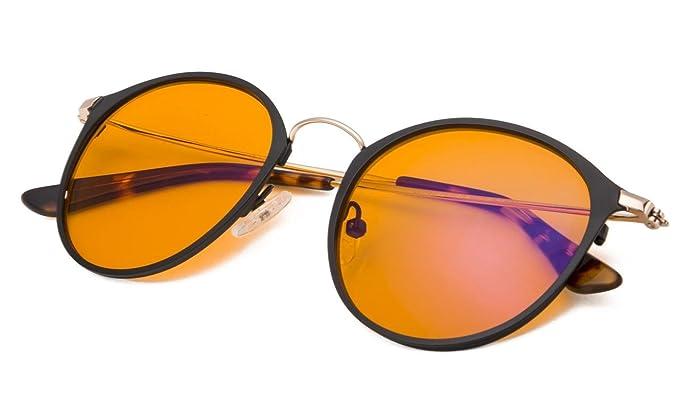 c5b270c5295 Amazon.com  Oval Large Frame Blue Light Blocking Glasses with Anti ...
