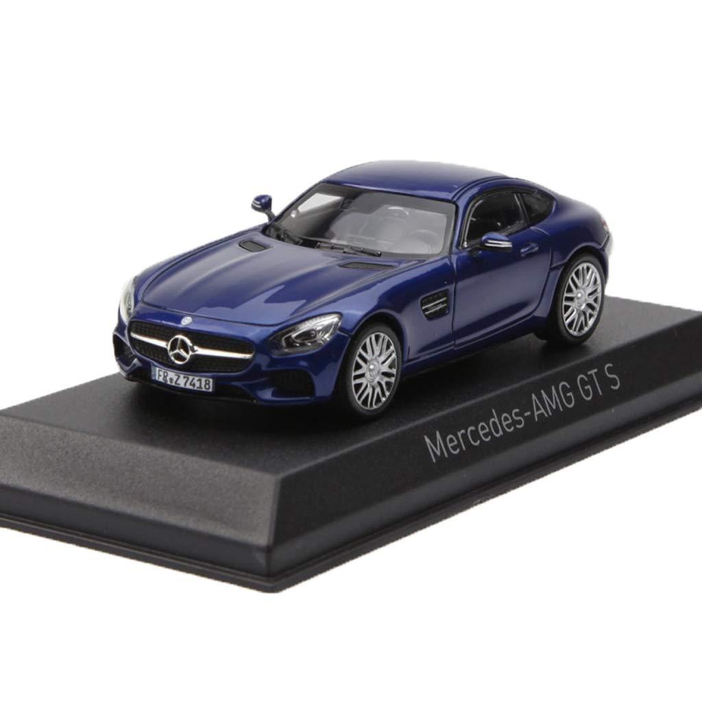 bluee 10cm4cm3.5cm GAOQUNTOY 1 43 MercedesBenz AMG GT S Alloy Car Model Decoration Collection Gift (color   bluee, Size   10cm4cm3.5cm)