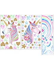 Cartoon Wall Sticker Cartoon Pvc Paster Wall Decal Decorative Stickers for Home Room Girls Bedroom 3pcs (removable Stickers)