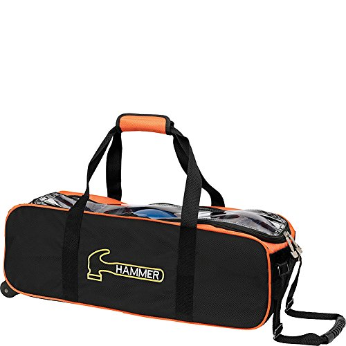 Hammer Premium Triple Tote Bowling Bag, - Hammer 3 Bowling Ball Bag