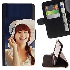 - Cute Koeran Asian Girl - - Monedero PU titular de la tarjeta de cr????dito de cuero cubierta de la caja de la bolsa FOR Samsung Galaxy S4 Mini i9190 RetroCandy