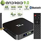 Android 9.0 TV Box,Pendoo TX6 Android TV Box 4GB DDR3 32GB EMMC Dual