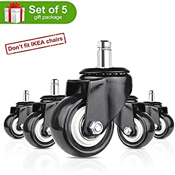 Amazon Com 8t8 Office Chair Caster Wheels 1 5 Quot Plug In
