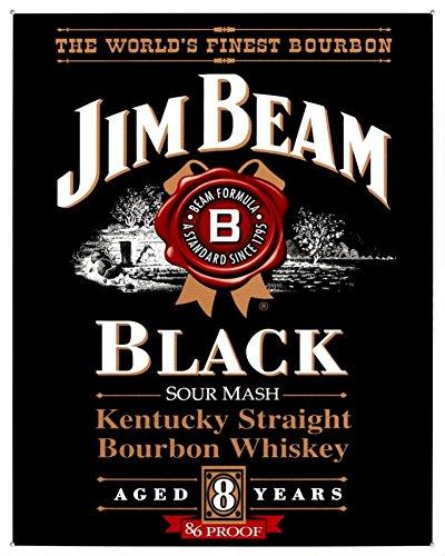 Jim Beam Black Label (Jim Beam Black Label Tin Sign 13 x 16in)