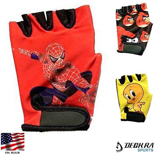 Kids Gloves Junior Cycling Cartoon Character Printed Gloves (SPIDERMAN, XXS)