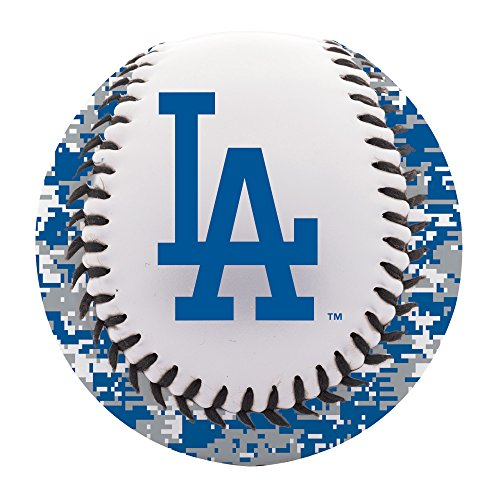 Los Angeles Dodgers Bat - Franklin Sports Los Angeles Dodgers Baseball Teeball - Soft Strike - Digi Camo Graphic PVC Cover - Soft Core - MLB Official Licensed Product