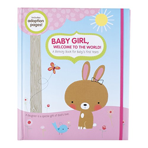 DaySpring Inspirational Memory Book with Momento Pockets, Forest Friends Collection, Girl