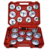 23pcs Aluminium Alloy Cap Type Oil Filter Grid Wrench Set Car Repair Garage Tool