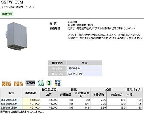 ユニックス 防音製品 ステンレス製 ベントキャップ SSFW100B10M 防音フード メッシュ 10メッシュ