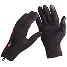 LuckyStone Waterproof Outdoor Cycling Ski Winter Cold Weather Gloves finger Gloves for Adult & Teens