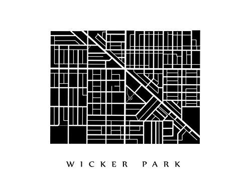 Wicker Park Neighborhood Map - Chicago, Illinois Poster ()