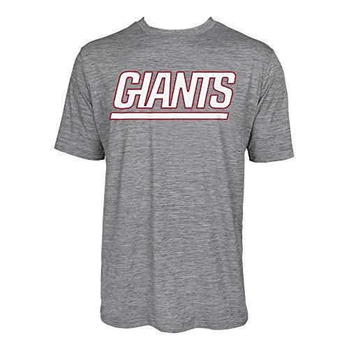 ZUBAZ Men's New York Giants, Tonal Gray Wordmark Logo, Large
