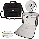 BUBM Projector Case, Travel Carrying Bag with Accessories Pockets and Shoulder Strap, Water-resistant, Well Protection, Fit for HITACHI, Epson, BenQ, Sharp and more. Large