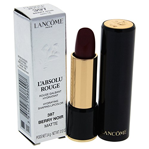 Lancome L'Absolu Rouge Hydrating Shaping Lip Color For Women, No.397 Berry Noir Matte, 0.12 Ounce ()