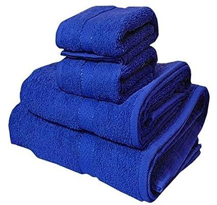 e7e90b8364fa Trident Cotton Midnight Couple Bath and Hand Towels Set (Blue ...