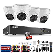 ANNKE New 3-Megapixels H.264+ Surveillance Camera System 8Ch 5-in-1 DVR Recorder with 1TB Hard Drive and (4) 1920x1536@18fps Outdoor Weatherproof Cameras