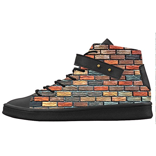 Custom struttura del muro di mattoni Womens Canvas shoes Le scarpe le scarpe le scarpe.