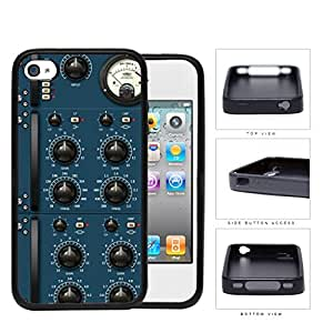 Audio Amplifier Panel Blue Rubber Silicone TPU Cell Phone Case Apple iPhone 4 4s