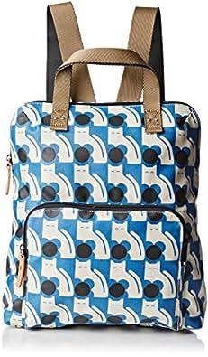 Orla Kiely Poppy Cat Print Tote Backpack, Powder Blue, One Size