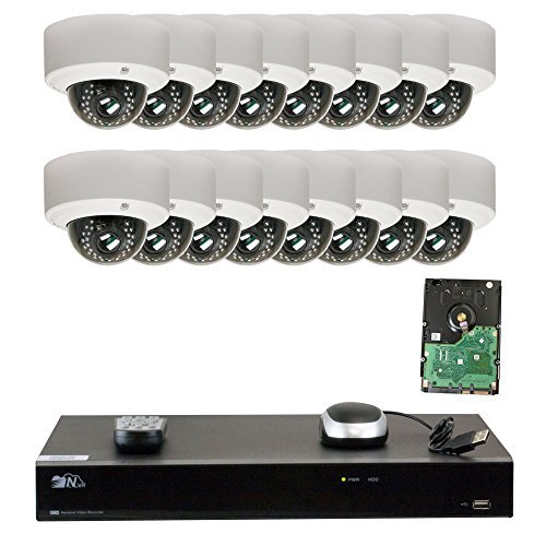 GW Security High End Motorized 4X Zoom 5MP Outdoor /Indoor Security Camera System